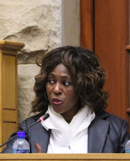 Dr Makhosi Khoza chairing a meeting of the portfolio committee on public service and administration. (Jan Gerber, News24)