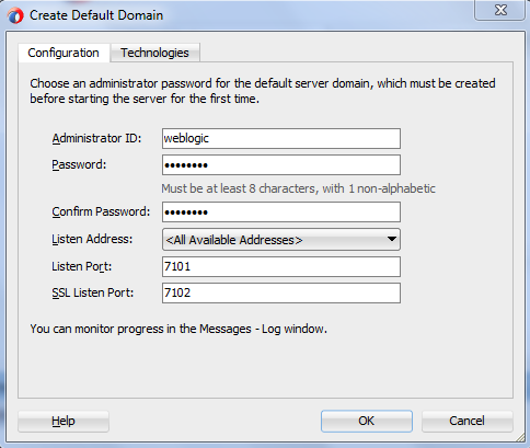 Oracle SOA 12c Default Domain