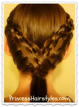 cute ponytail hairstyle braided