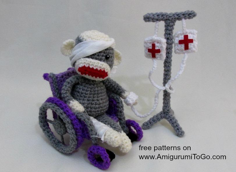 Amigurumi Freely Fb : Crochet wheelchair pattern video tutorial ~ amigurumi to go