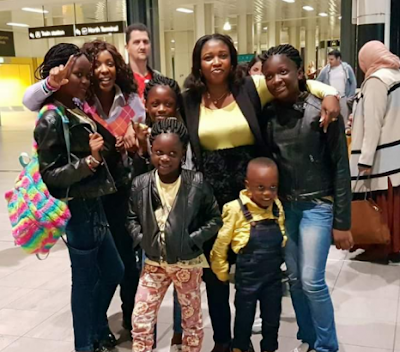 1c - Photos of Apostle Suleman's wife, Lizy and their children in London