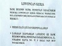 Bank Bukopin Payakumbuh sd 04 Desember 2017
