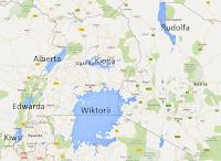 jeziora afrykańskie - Wiktorii, Alberta, Kioga, Kiwu, Edwarda, Alberta