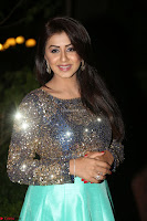 Nikki Galrani in Green Skirt  Top at Marakathamani music launch ~  Exclusive (94).JPG