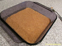 graham cracker crust in baking pan