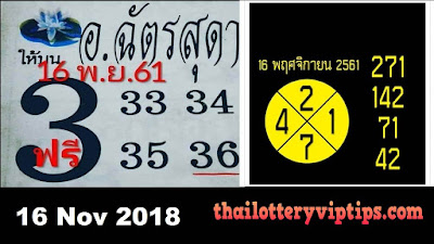 Thai lottery direct set VIP 3up set must win paper 16 November 2018