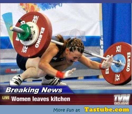 Women leaves kitchen