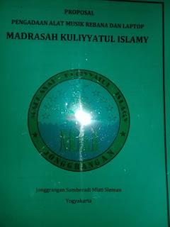 Contoh Proposal Pengadaan Barang Sarana Perlengkapan di Madrasah
