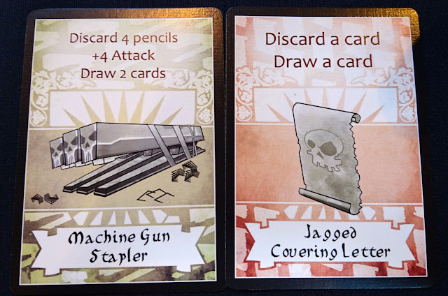 Temp Worker Assasins - weapon cards - old artwork