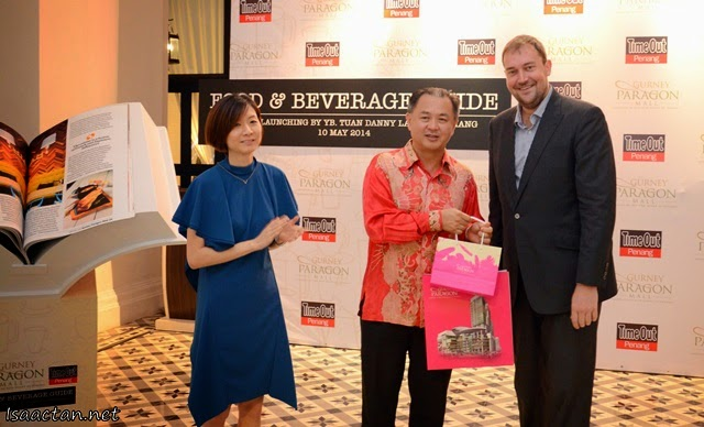Penang State Exco for Tourism Development, YB Danny Law, Hunza Group Executive Director, Ms Khor Tze Ming and Mongoose Publishing Chief Content Office, Mr Matt Bellotti.