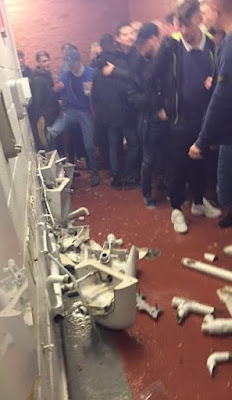 Man City fans destroy facilities at Old Trafford after Man U's 1-0 win (photos/video)