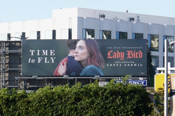 Lady Bird Time to Fly Oscar consideration billboard