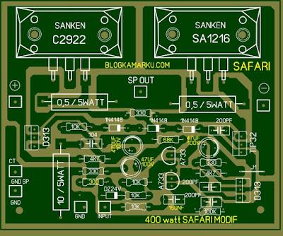 modifikasi power amplifier 400 watt safari agar lebih nendang