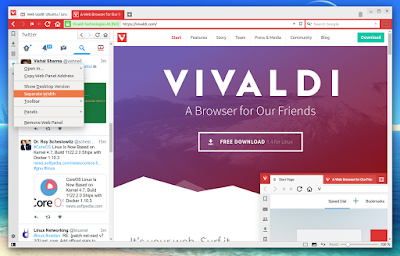 Vivaldi web panels