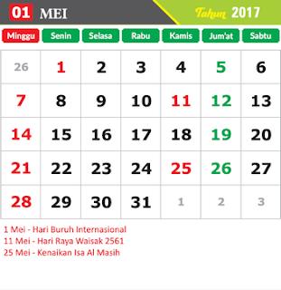 Kalender 2017 Indonesia: Kalender 2017 Indonesia