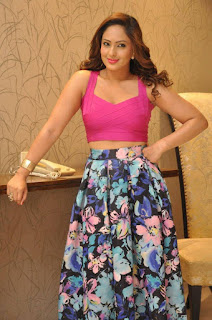 Actress Nikesha Patel Latest Stills in Floral Skirt at Araku Road Lo Teaser Launch  0028.jpg