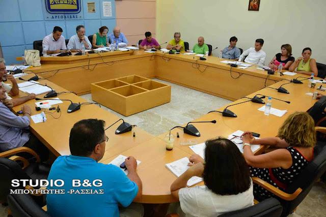 Τακτική συνεδρίαση του Δημοτικού Συμβουλίου και του κληροδοτήματος Βασ.Κοντολέων στο Ναύπλιο