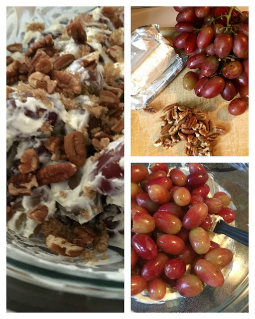 The 3-Step Grape Salad can be thrown together at the last minute with just a few ingredients and minimal prep time.