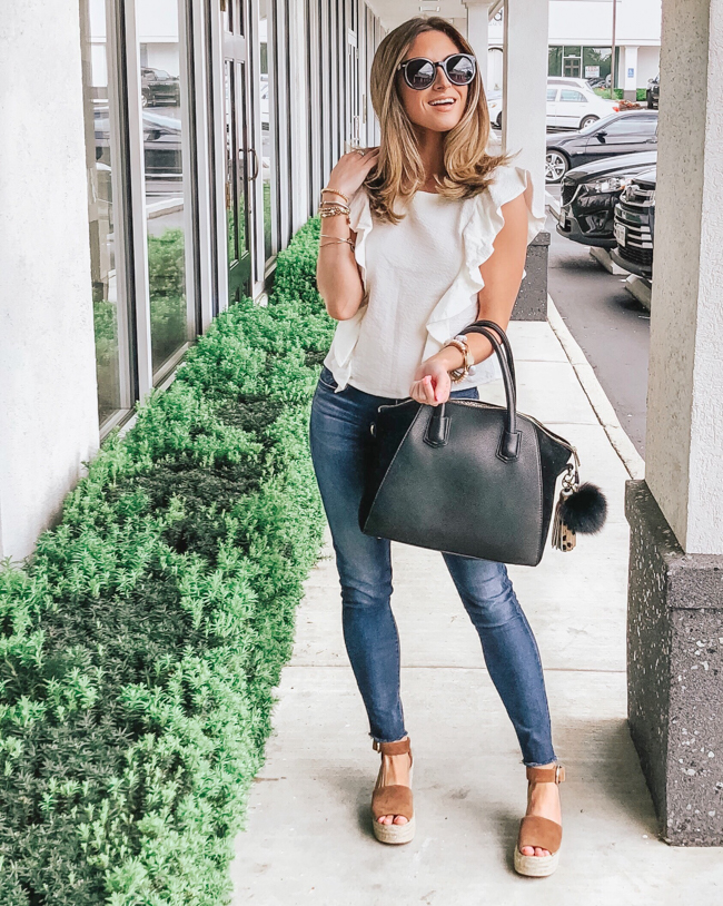 nordstrom bp. ruffle top
