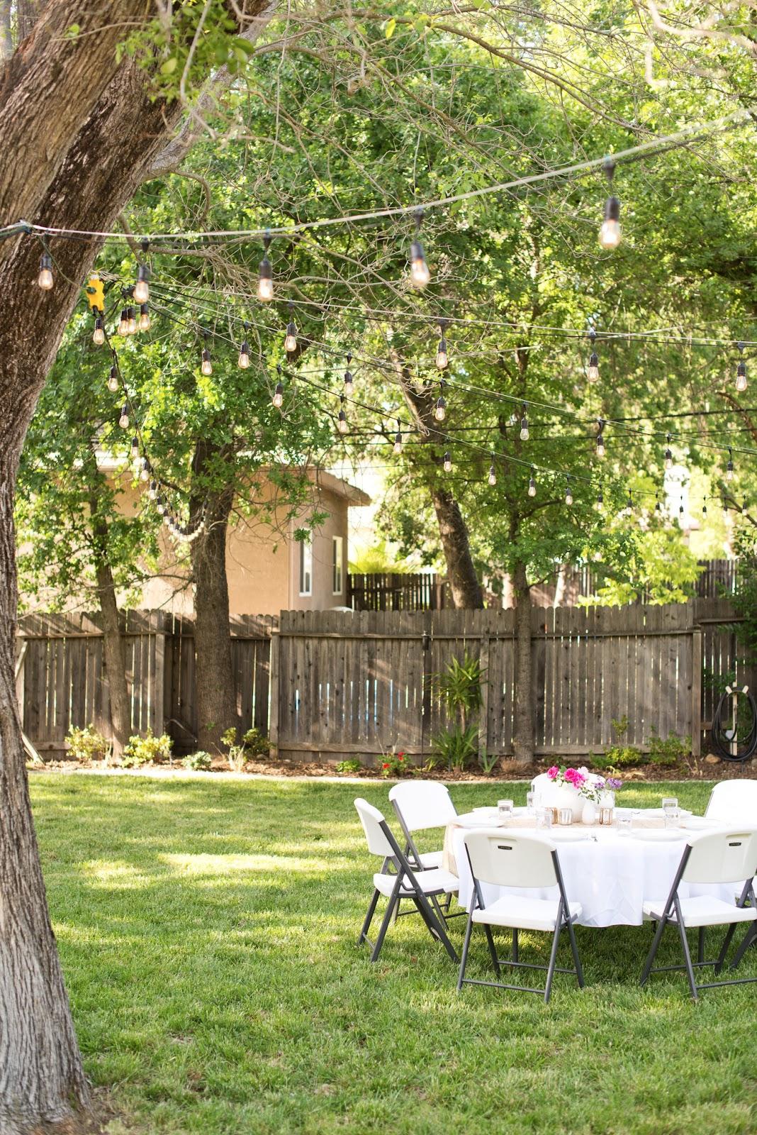 Domestic Fashionista: Backyard Anniversary Dinner Party