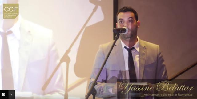 Yassine Belattar anime le diner de gala du CCIF, 29 mai 2015