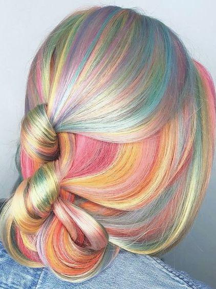 colores de cabello unicornio 2017