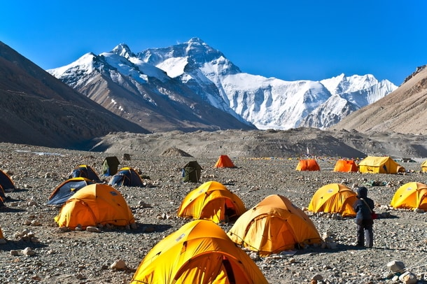 Mount everest basecamp is now closed for tourists