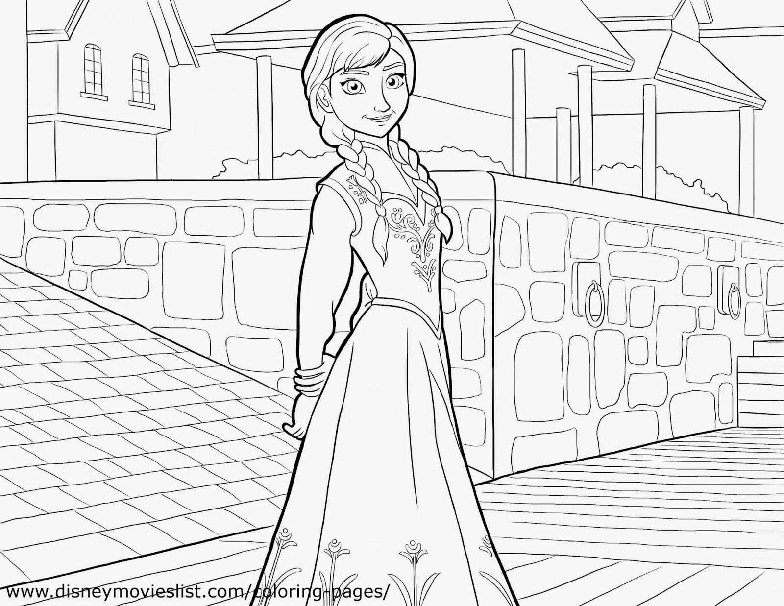 Frozen: Imágenes de Ana para Colorear, para Imprimir Gratis. | Ideas ...