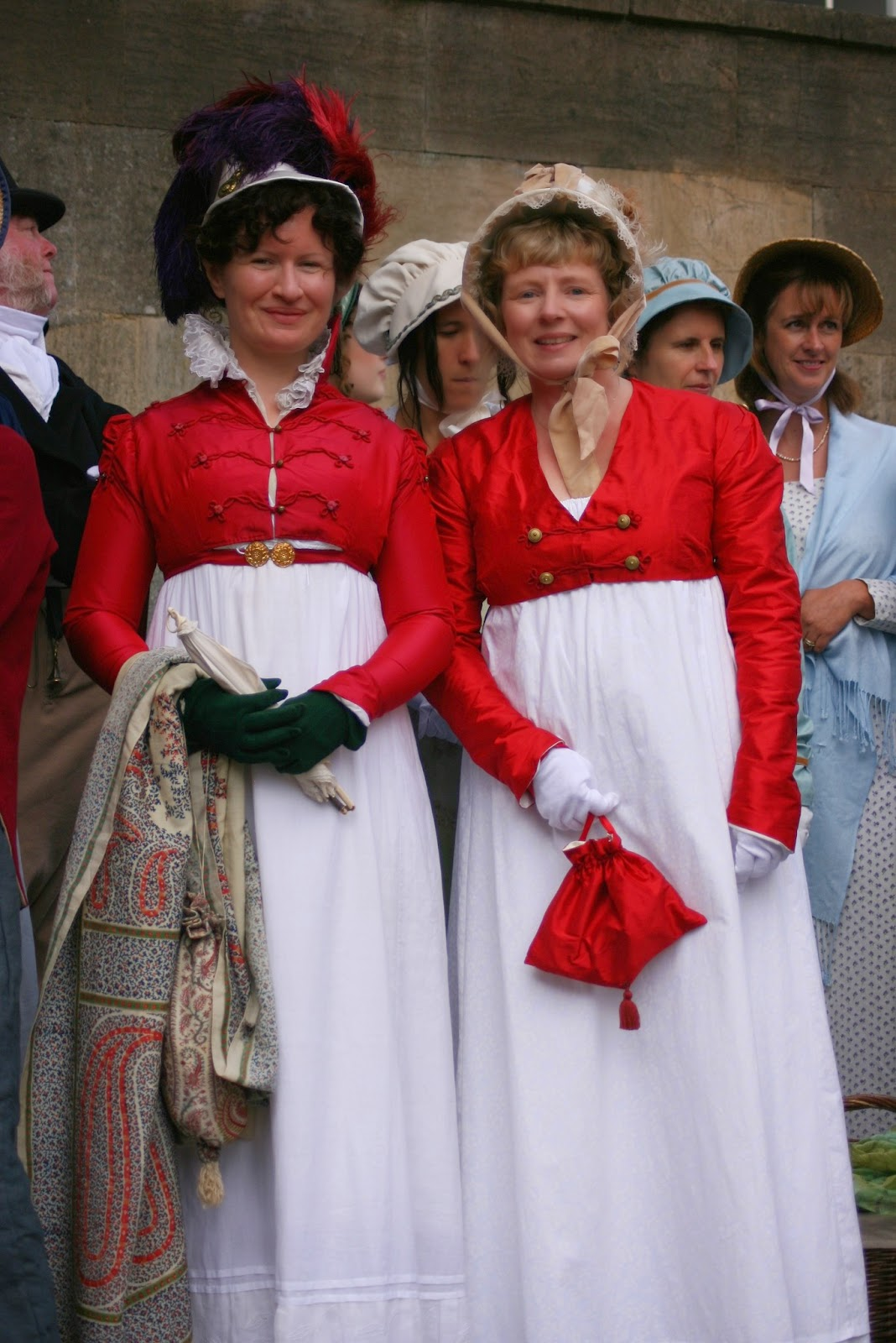 Rachel with Natalie Garbett (left)  who made my beautiful Regency costume
