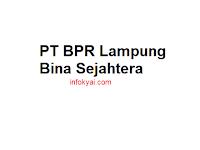 Lowongan Kerja PT BPR Lampung Bina Sejahtera Terbaru