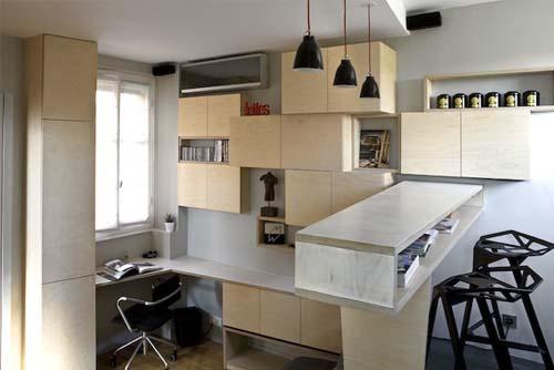 Creare una zona snack in un appartamento di 16 mq a Parigi