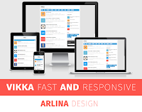 Template Premium Vikka Blogger Version