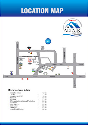 Location Map for Villa projects for sale near technopark, trivandrum