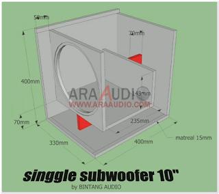 Skema Box Subwoofer 10 inch