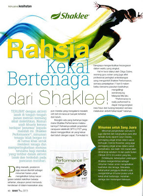 performance drink shaklee, performance drink orange, kekal bertenaga, bertenaga