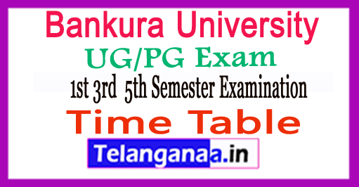 Bankura University UG/PG Time Table 2018