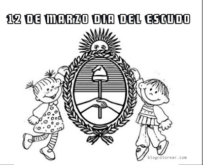 12 marzo día del escudo argentino