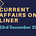 Current Affairs One-Liner: 23rd December 2019