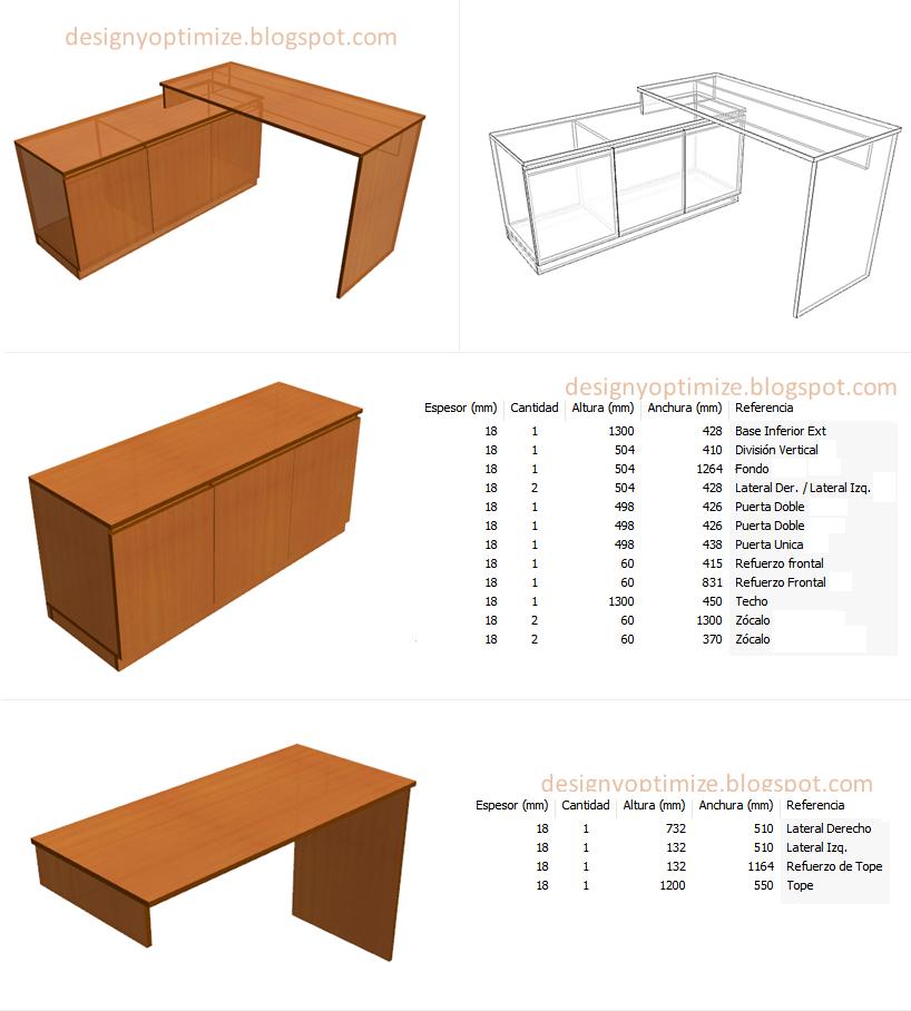 Dise o de muebles madera fabricando escritorio en forma l for Programa para disenar muebles de madera