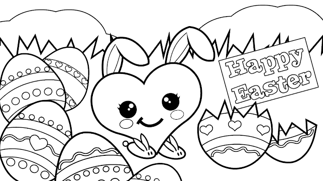 Free Easter Eggs Coloring Pages for Adults