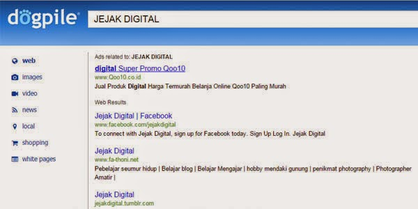 jejak digital dogpile search