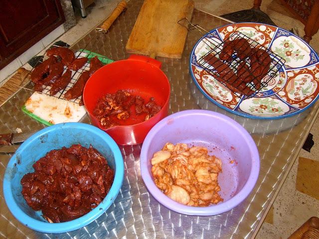 Maroko. Eid el Kebir. Jedzenie z barana