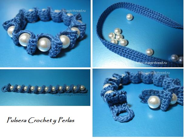 Pulsera Crochet y Perlas