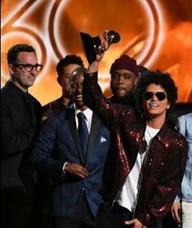 Bruno Mars at Grammy Awards 2018