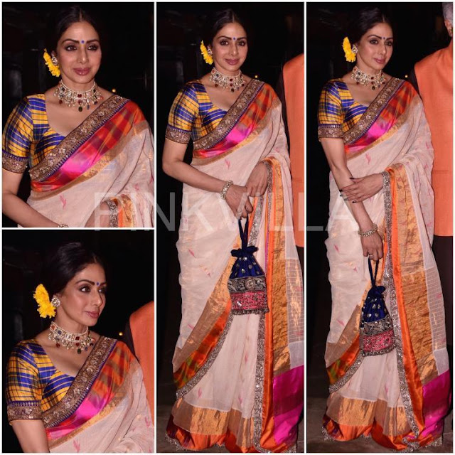 Sridevi at Shabana Azmi Diwali Bash