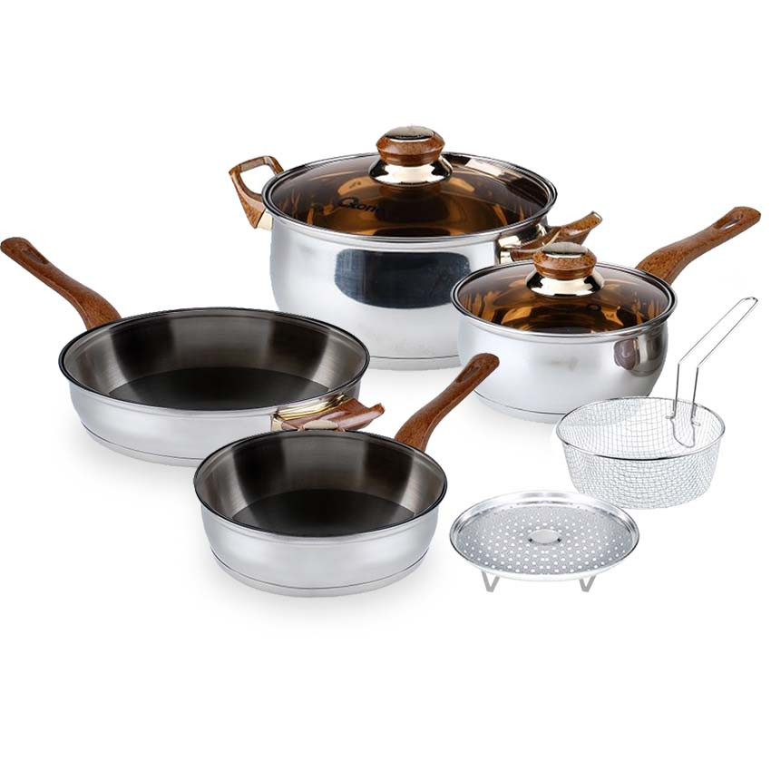OX-911   BASIC Cookware Set Oxone 4+2Pcs