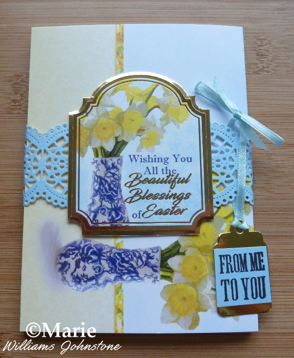 Example of a spring Easter flowers wrapped set of Hunkydory notecards cards die cut wrapper