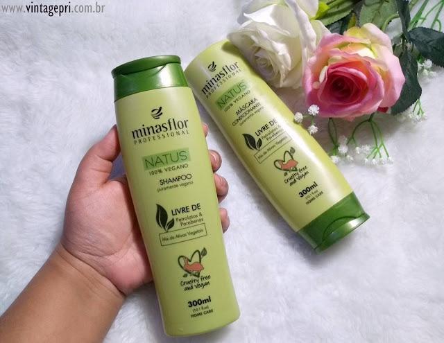 #Testei: Shampoo e Máscara Condicionante Linha NATUS Vegana (Minasflor)