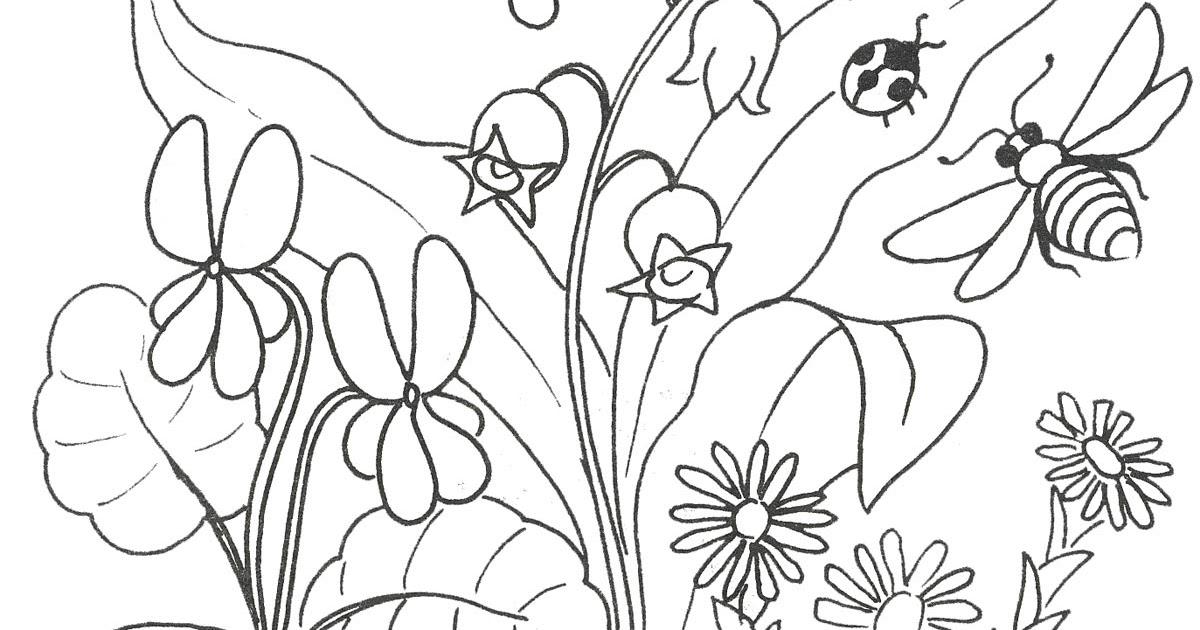 Раскраски деткам: Раскраска весна