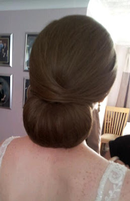 Wedding Chignon, Louise Chrystal, Wedding Hairdressers
